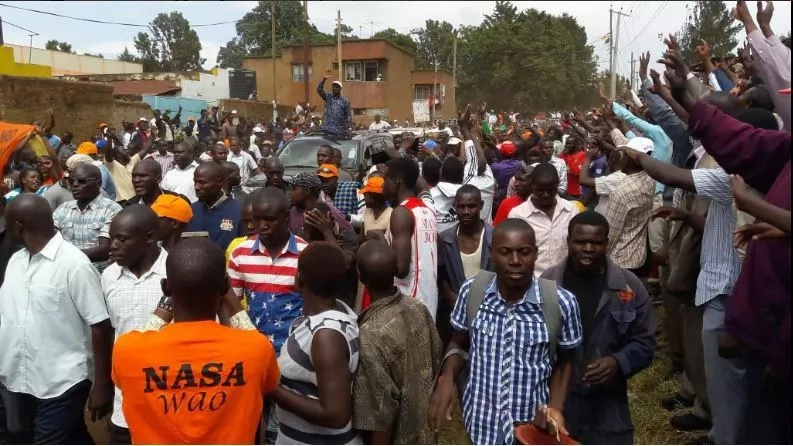 NASA gets ROUSING welcome in first rally in Eldoret