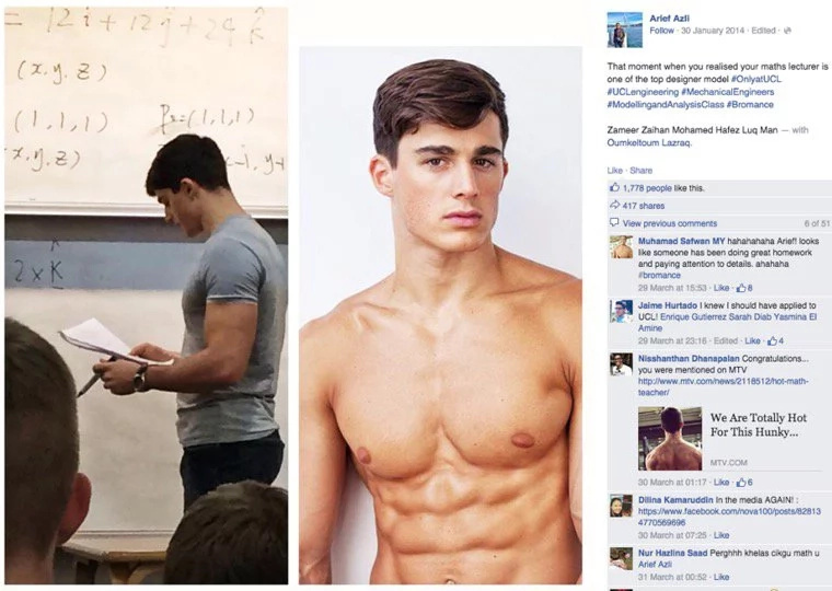 """World sexiest Math teacher"" becomes face of Armani"