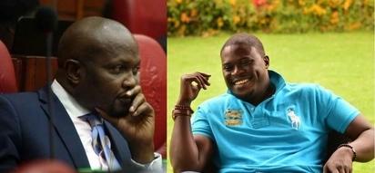Moses Kuria amtolea jicho Johnstone Sakaja kwa kumnusuru Babu Owino kutoka seli