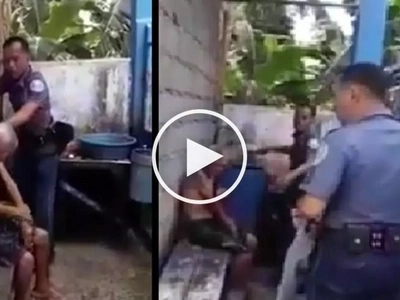 Kindhearted cops takes care of old man abandoned by his children in Zamboanga