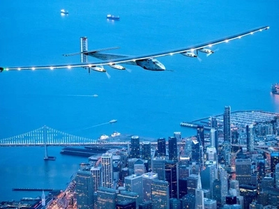 LOOK: Solar-powered airplane flies to New York