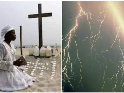 Sad! Prophetess struck to death by lightning