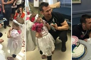 Un hôpital organise un 'mariage' pour une petite fille atteinte de leucémie avec son infirmier préféré