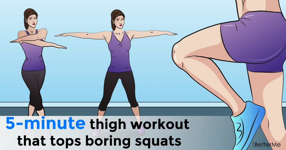 A 5-minute thigh workout that tops boring squats