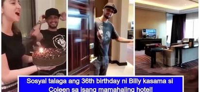 Bongga talaga! Billy Crawford celebrates his 36th birthday with Coleen Garcia at a luxurious hotel