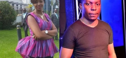 Abisai who won KSh 221 milion in a bet seen with a mzungu woman and Kenyans go wild(photo)