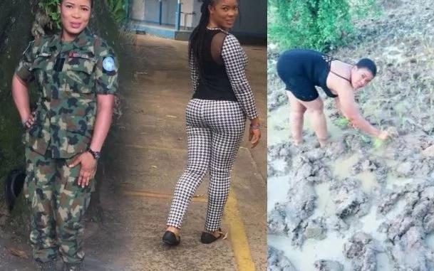 Kutana na binti mrembo ambaye ni askari na mkulima hodari wa mpunga