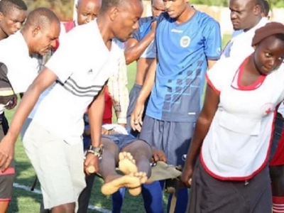 Video:Talented African Footballer dies just after celebrating goal