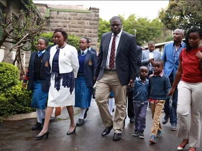Sakaja, his rarely seen wife and their sons are family goals in these 5 stunning photos