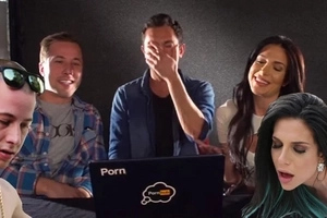 Pornstar couple watch each other's porn videos for the first time