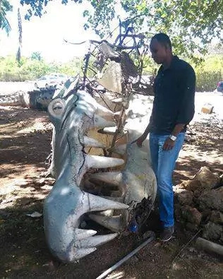 Photos: Iconic Mombasa's Mamba Village statue destroyed