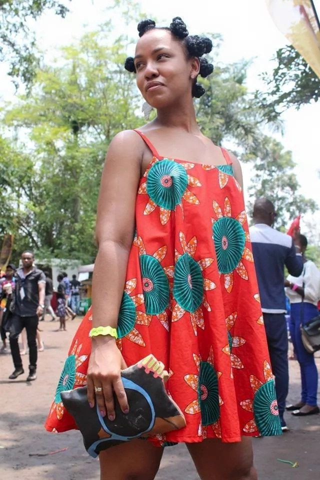 This beautiful sundress and simple hairstyle won. Photo: Facebook/Jinja City