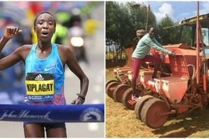 Super woman! Kenya's Boston Marathon winner juggles running, raising 5 kids and farming (photos, video)