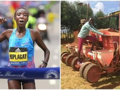 Kenya's Boston Marathon winner juggles running, raising 5 kids and farming (photos, video)