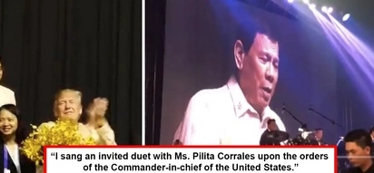 Videoke na! Watch Duterte sing during ASEAN dinner at Trump's request