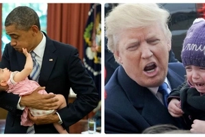 LOL: The huge difference between Donald Trump and Obama with kids