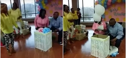 Blue is a boy, pink is a girl, future mom breaks down in tears as 3 white balloons come out of the box (photos, video)