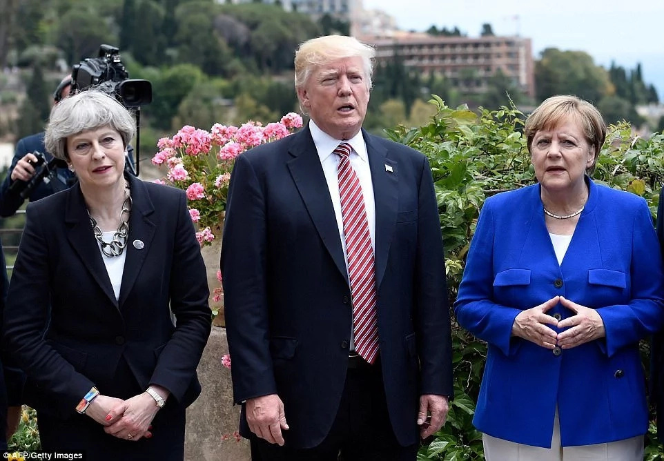 Meanwhile, Trump was attending the G7 Summit nearby alongside other world leaders