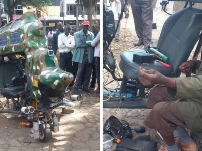 Illiterate Kisumu man, 25, builds HELICOPTER from scratch and leaves Kenyans stunned (photos)