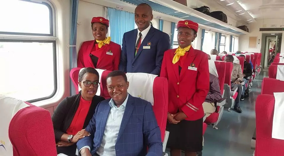 Alfred Mutua scores against Wavinya Ndeti after taking his first trip in the SGR