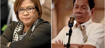 De Lima: Duterte should be Top 1 in his drug list for taking the drug fentanyl
