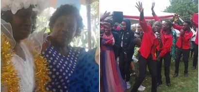 Maseno woman marries a church after husband stressed her(photo)