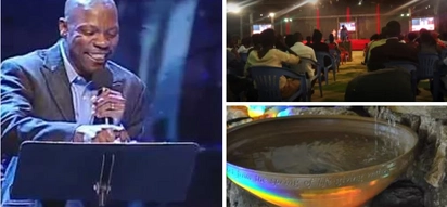 She died after being sprinkled by holy water by pastor so she can be rich
