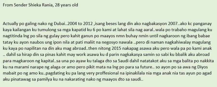 Masuwerte sa naging amo! Inspiring story of a Filipina OFW in Saudi Arabia
