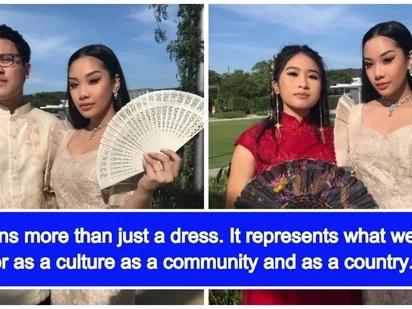 Hinangaan ang isang Fil-Am na dalagita dahil sa pagsusuot ng traditional Filipiniana dress sa 'Prom Night' nya sa America