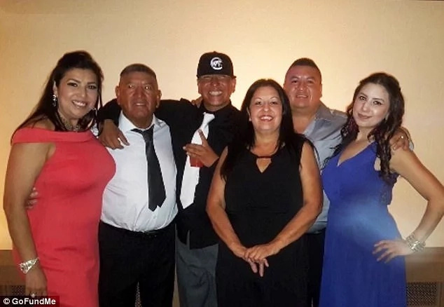 Jesus Rojas Jr (second from left) and part of his family. Photo: GoFundMe