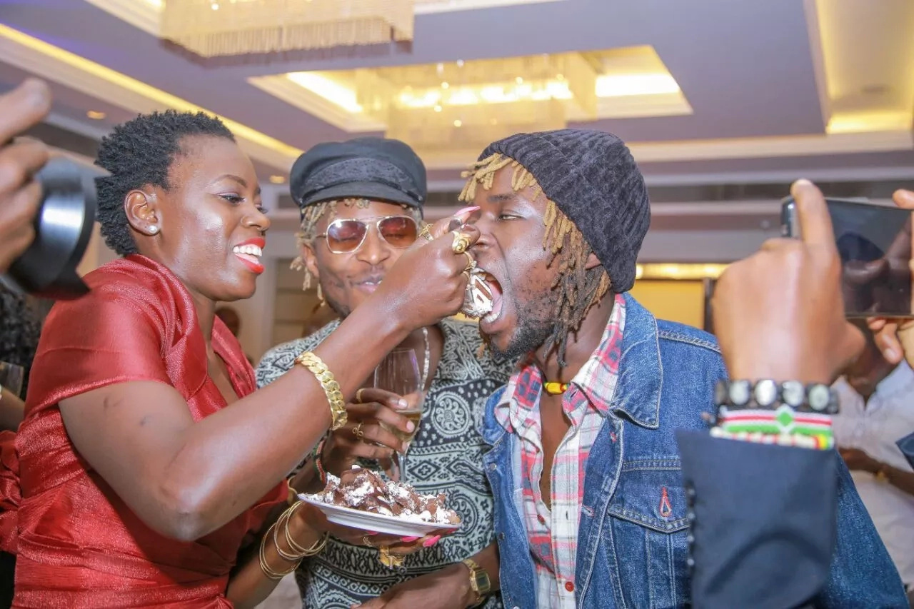 Akothee receives a hero's welcome upon landing on JKIA airport