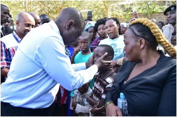 Govt to spend KSh 70 million on rebuilding burnt Lang'ata houses - DP Ruto