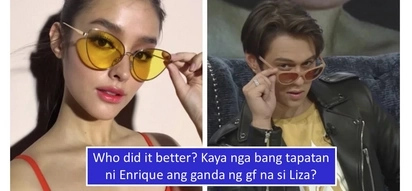 """Kalevel ang ganda: Enrique Gil proves he can be like the """"World's Most Beautiful Face"""" like Liza Soberano"""