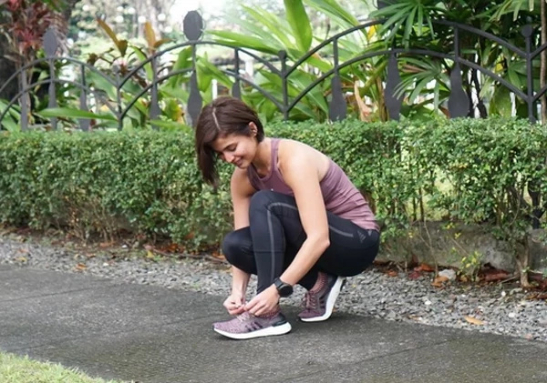 Anne Curtis is preparing for jogging
