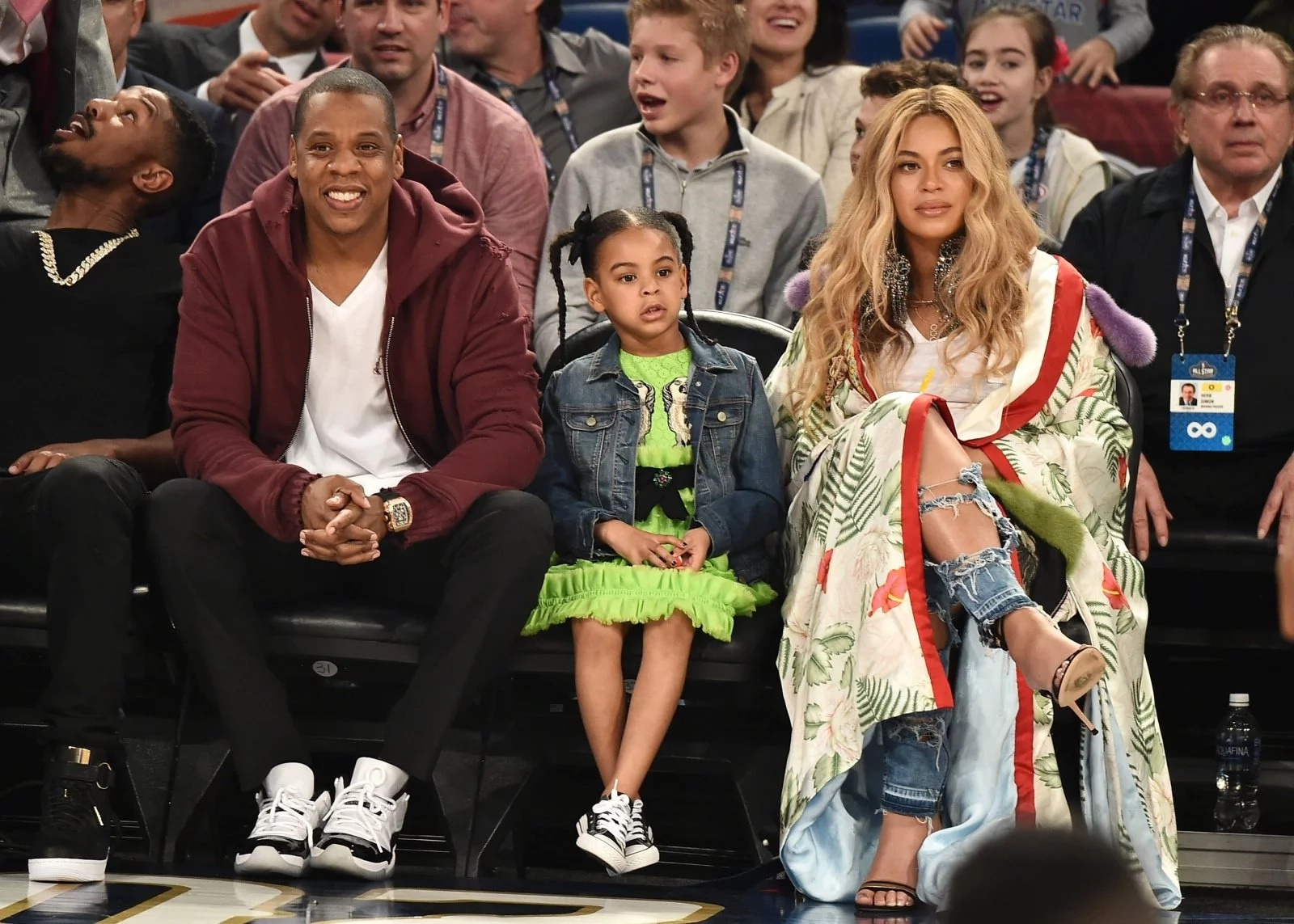 Beyoncé and Jay-Z's daughter, Blue Ivy, rocks the stage at a party. Doesn't she look natural?