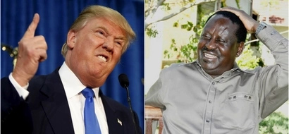 Donald Trump goes to Israel and does exactly what Raila did while he was there (photos)