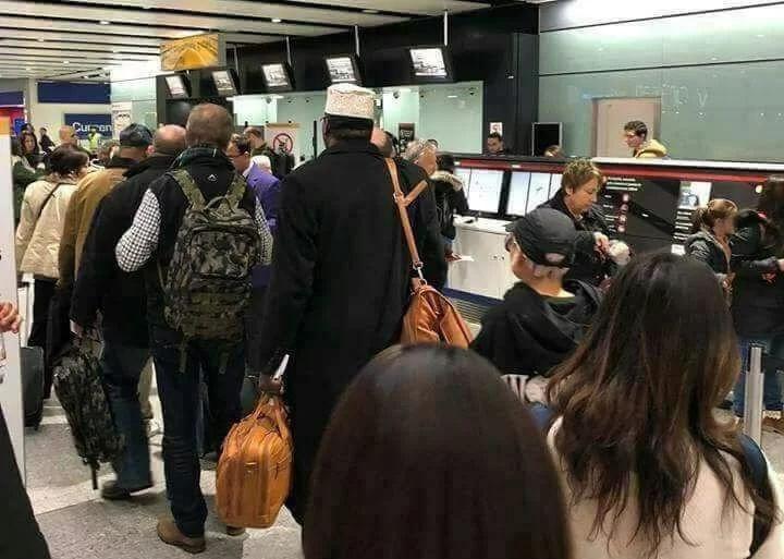 Miguna Miguna at the airport on his way back to Kenya from Canada