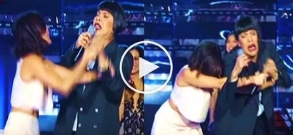 Hysterical Vice Ganda violently stops Anne Curtis from singing on 'It's Showtime': 'Para mo nang awa!'