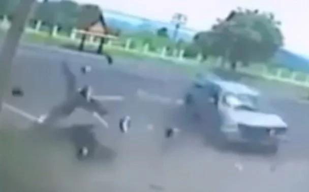 Dashcam footage shows woman's soul leaving her body after deadly motorcycle crash