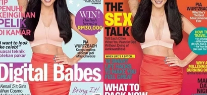Can you spot the difference between Pia Wurtzbach's Cosmopolitan covers?