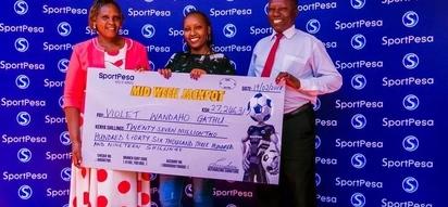 Rare moment as Nakuru lady walks away with KSh 27 million Sportpesa Jackpot