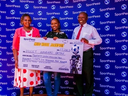 Rare moment as Nakuru lady walks away with KSh 27 million Sportpesa Jackpot