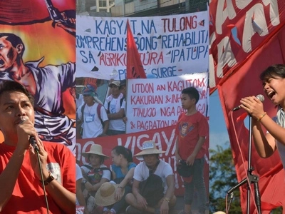 Para sa bayan! Activists protest at Mendiola Peace Arch