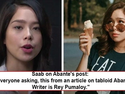 Napikon, nagalit, rumesbak! Saab Magalona hits back at Abante writer for article that disrespects her and sister Maxene!