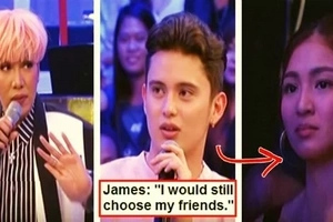 James Reid told Vice Ganda that he would choose his friends over GF Nadine Lustre! Fans were disappointed: 'Nawala ang kilig ni Nadine sa sagot mo'
