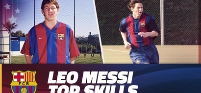 Lionel Messi's top skills during his youth days will thrill your heart (video)