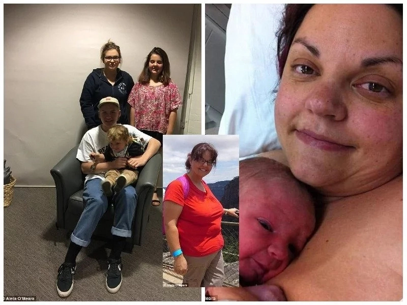 43-year-old woman discovers she was pregnant on the day she gives birth (photos)