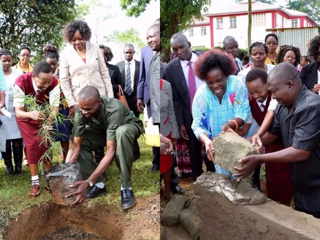 William Ruto's wife steps out in school uniform and you won't believe how she looks like