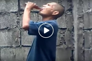These men shockingly finished off several bottles of Tanduay Rhum in seconds...how they did it will surprise you!