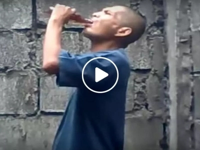 These men shockingly finished off several bottles of Tanduay Rhum in seconds....how they did it will surprise you!